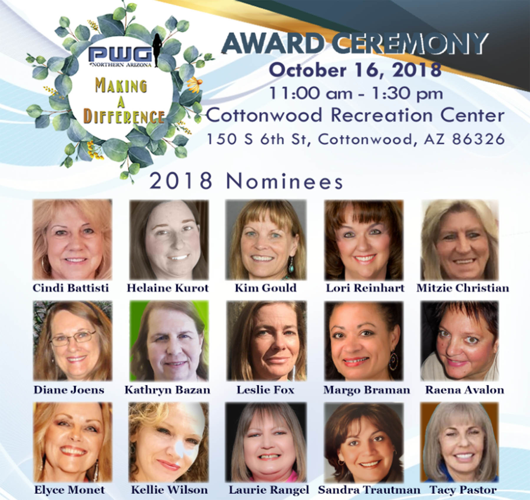 2018 Making A Difference Award Nominees